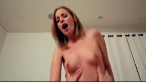 Red haired girl is ready for a casual fuck during a threesome with friend while getting fucked