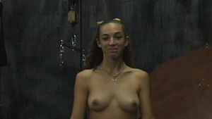 Naked blond in yellow, Isabella Ramos is showing her gentle pussy in front of the camera