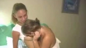 Nasty lesbian babes do not mind each other, because they're eagerly sucking their pinkened girlfriends' dicks